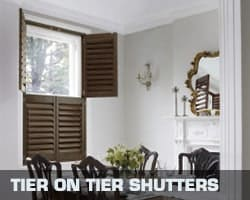 Conservatory blind tier on tier shutters