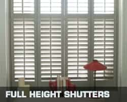 Conservatory blind full height shutters