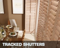 Conservatory blind tracked shutters