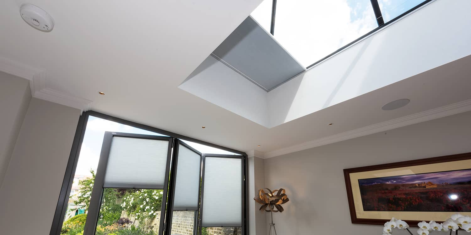 Conservatory blinds for roof lanterns and roof lights