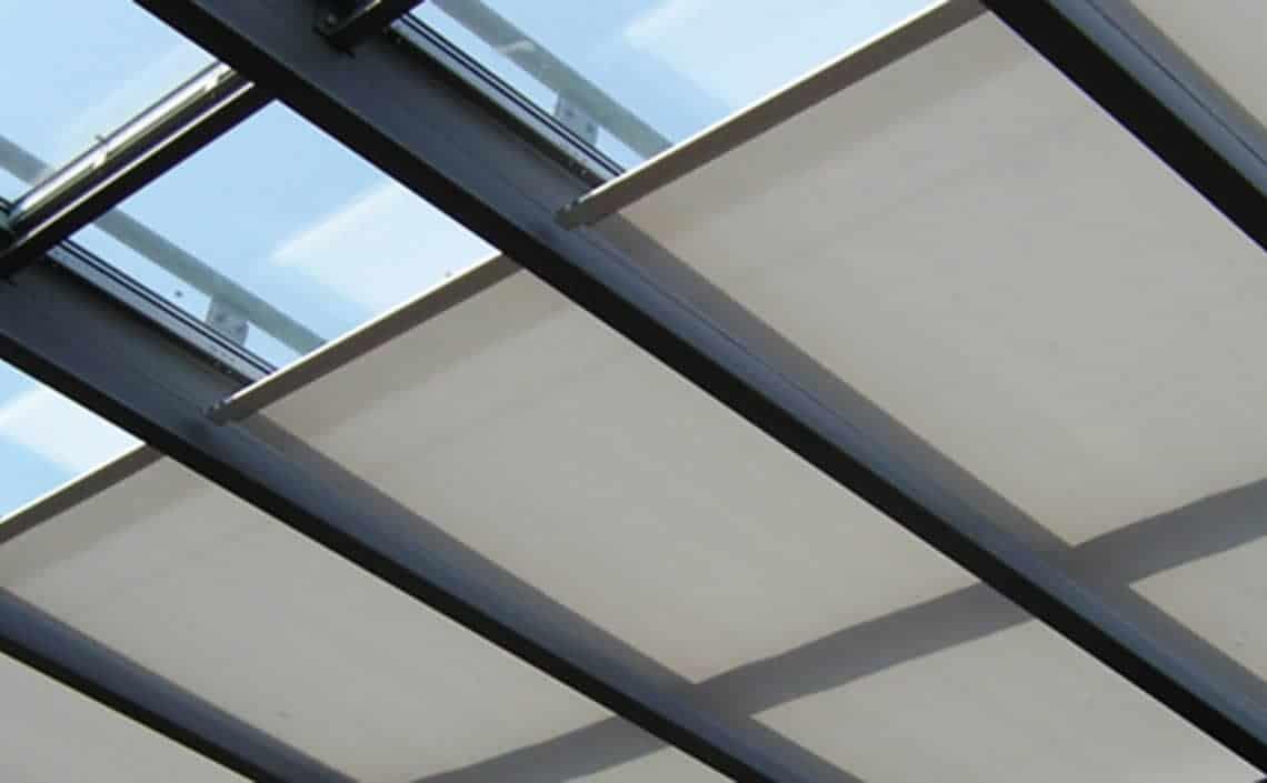 Roof roller conservatory blinds