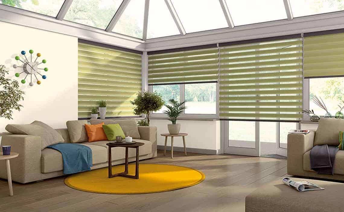 Conservatory side blinds : Senses Mirage