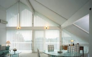 Silent Gliss vertical conservatory blinds