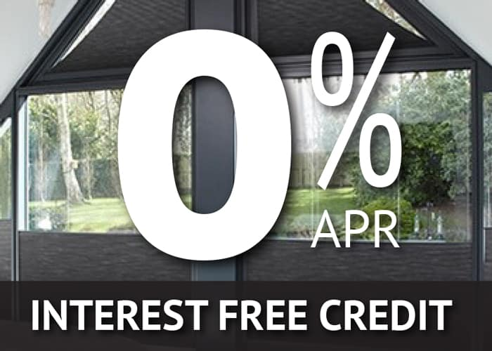 Interest free credit on conservatory blinds