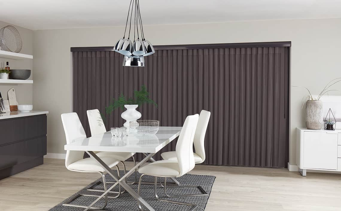 Allusion Blinds Horizon Pewter Closed
