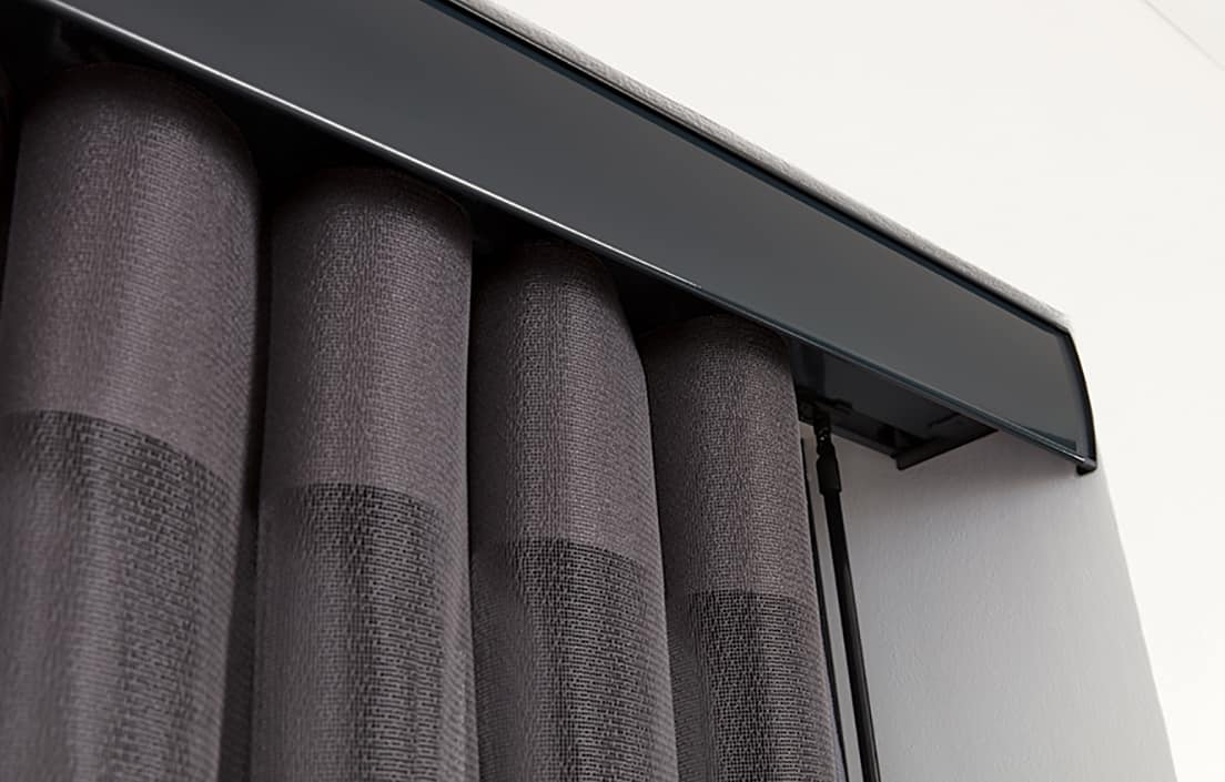 Allusion Blinds Horizon Pewter Close Up Rail