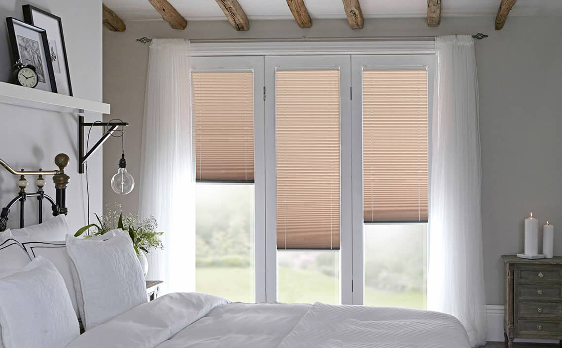 INTU Micro blinds for biFold doors