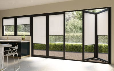 Bifold Door Blinds Kitchen