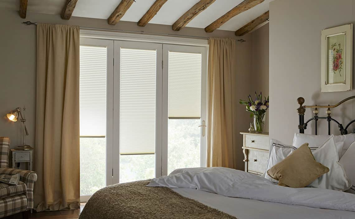 Bifold Door Blinds Bedroom