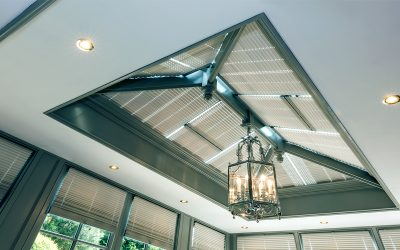 Roof lantern blinds - traditional pleated solution