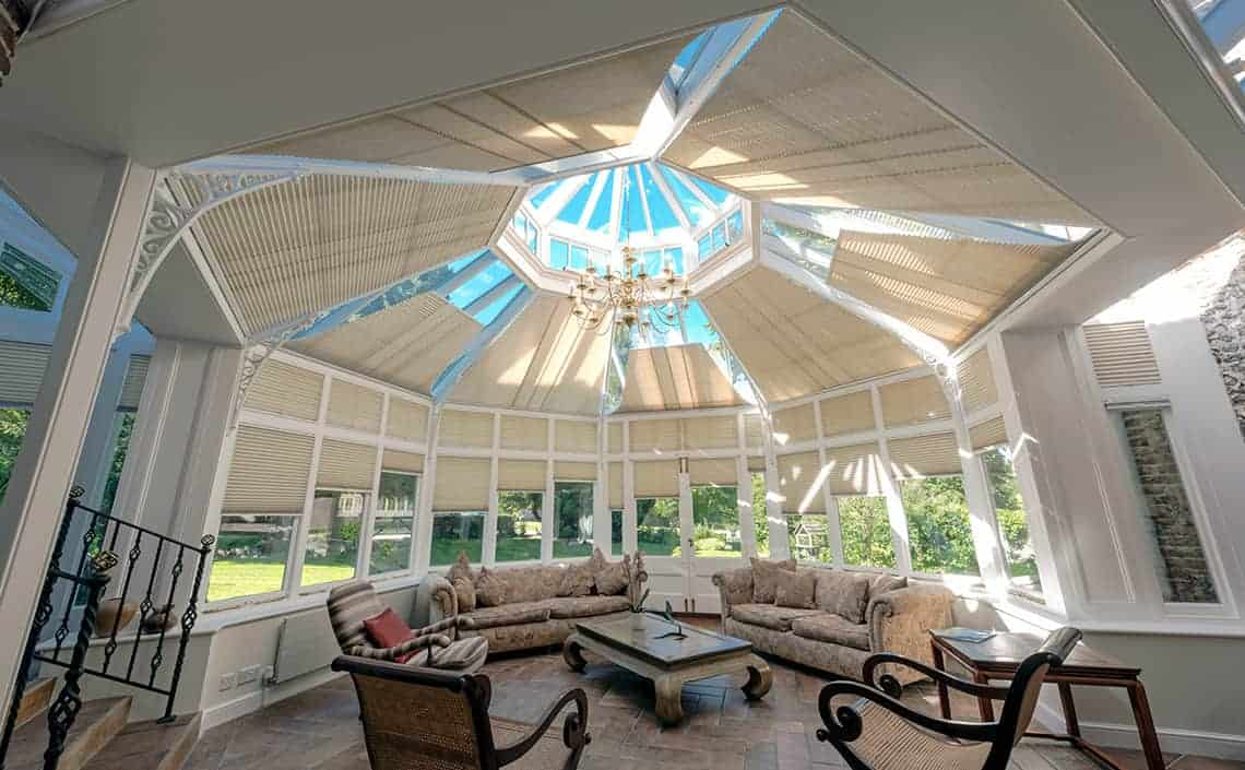 Conservatory blinds ranges