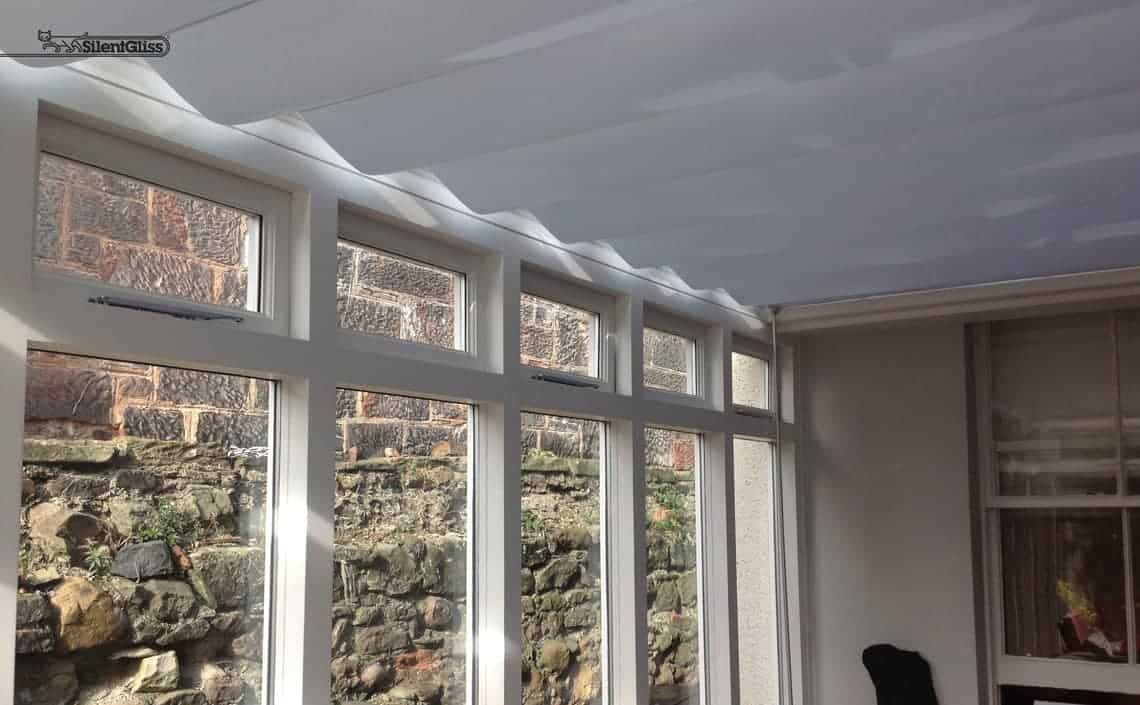 Roof roller conservatory blinds