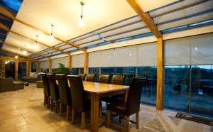 Silent Gliss roller conservatory blinds