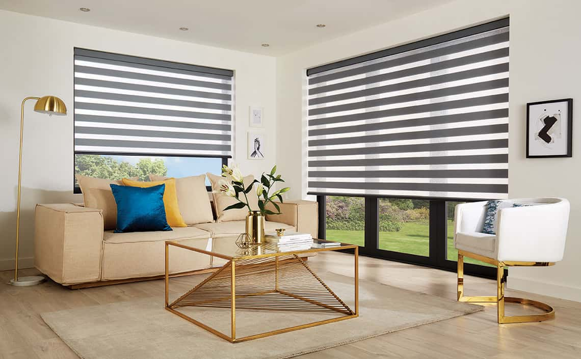Vision Blinds Ferrara Anthracite Conservatory Window Blinds